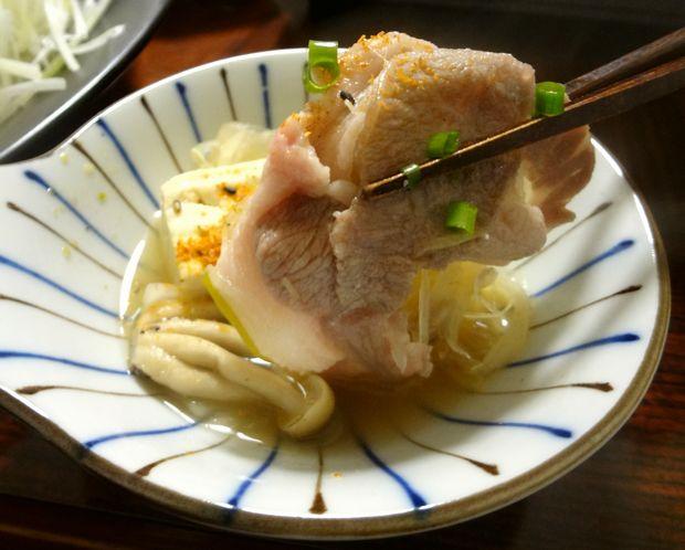 「豚しゃぶ蕎麦鍋」13(七味もイケる)