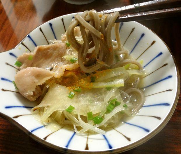 「豚しゃぶ蕎麦鍋」16(豚南蛮蕎麦)