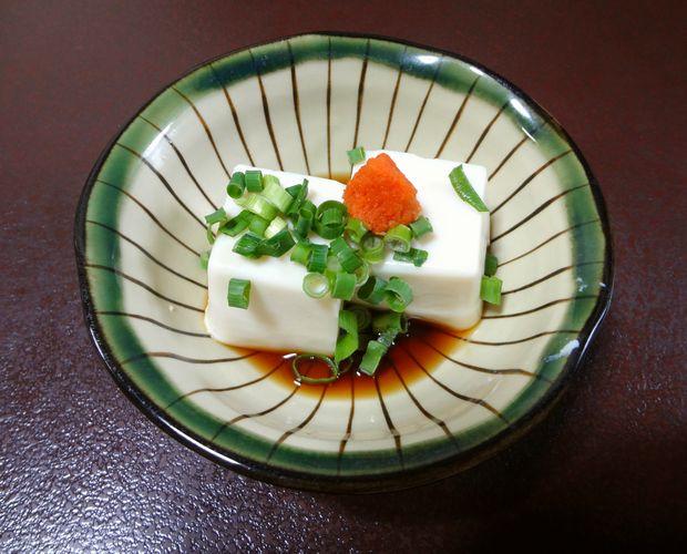 『元祖瓦そば たかせ 本館』白子豆腐(420円)