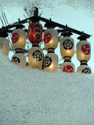 祇園祭水溜り