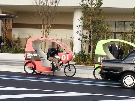 人力三輪車タクシー