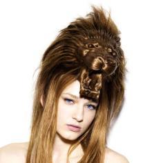 ライオン髪