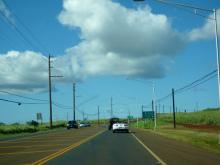 $原宿と渋谷の間に間に-ハワイの道路