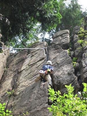 サラマンルート - 堡塁岩クライミング