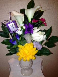 注文の仏花