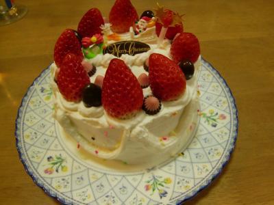 クリスマスケーキできあがり