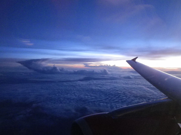 Flying to Ceylon