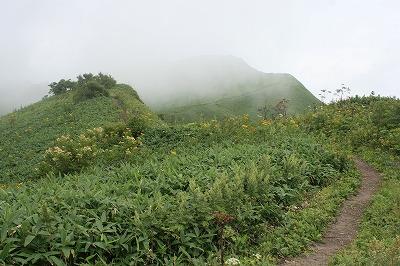 紋別岳8合目過ぎ