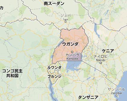 ウガンダmap
