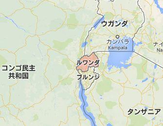 地図:ルワンダ