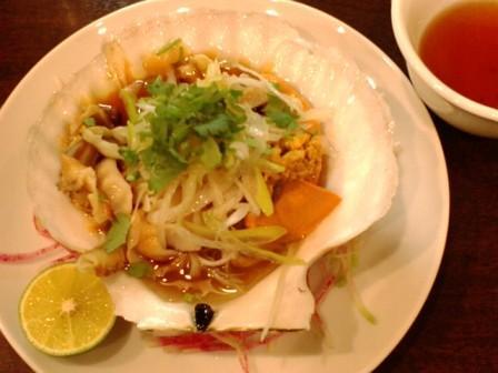 帆立の茹煮葱ソース