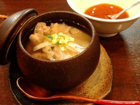 羊肉と白菜の漬物のスープ