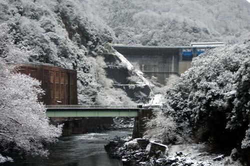 宇治雪景色
