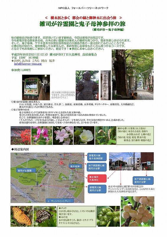 雑司が谷霊園と鬼子母神参拝の旅 2011.10._01
