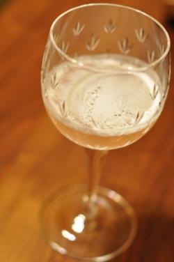 イチジクと白ワインのカクテル