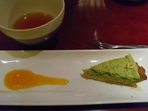 小松菜のチーズケーキb