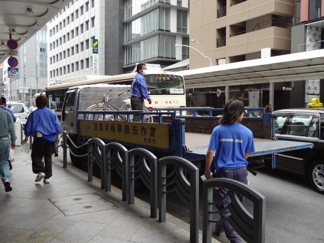 自転車の 京都 自転車 撤去 : 通りで抜き打ちの自転車撤去 ...