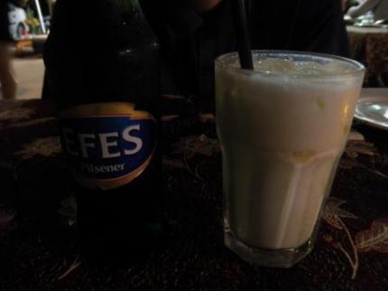 ソルトヨーグルトとビール