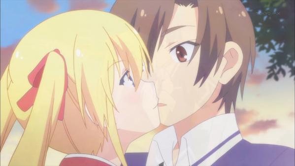 5 真那 鋭太にキス