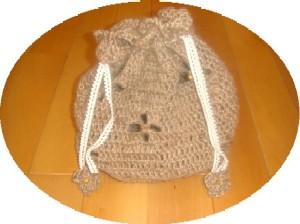 編み編みきんちゃく麻ひも