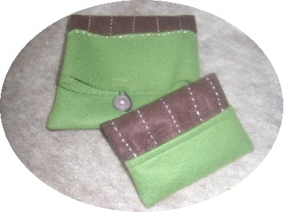フェルトポシェットセット(緑)