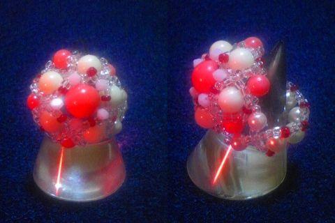 珊瑚のまんまるリング
