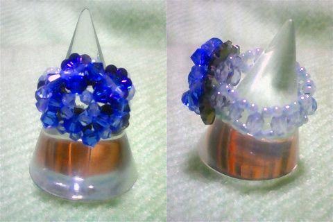 花型スワロのブルーリング