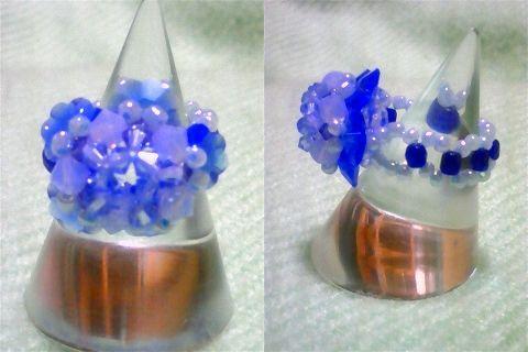 花形スワロのパステルリング