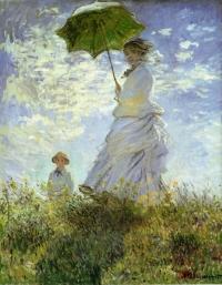 モネ 散歩・日傘をさす女