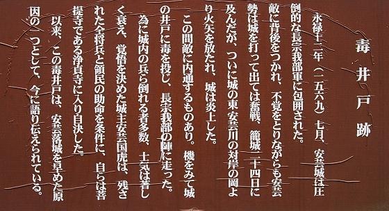 安芸城 毒井戸跡