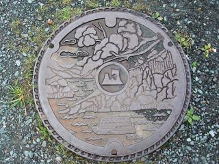 十和田湖マンホール1