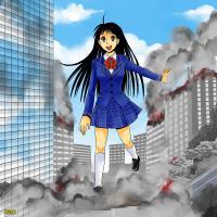 街破壊巨大少女幻想52
