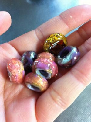 colorful ordered ginka beads