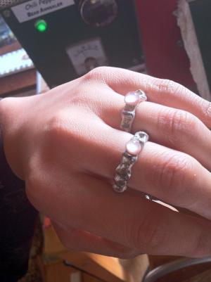 pale pink Ginka rings