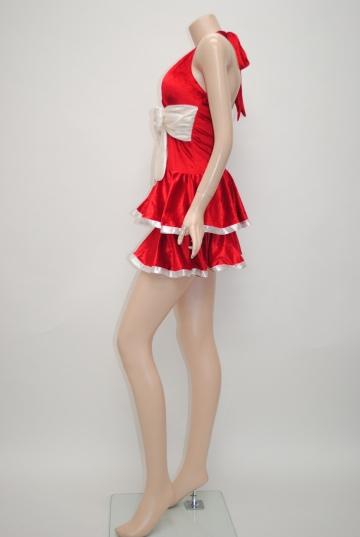 リボン付き☆2段フレアー サンタドレス