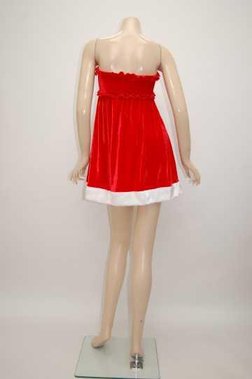 胸元キャザーリボン サンタドレス