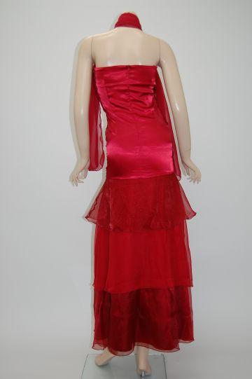ふわシフォンベアトップセレブ ロングドレス