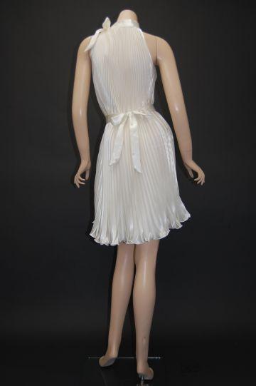 サテンプリーツ ショートドレス