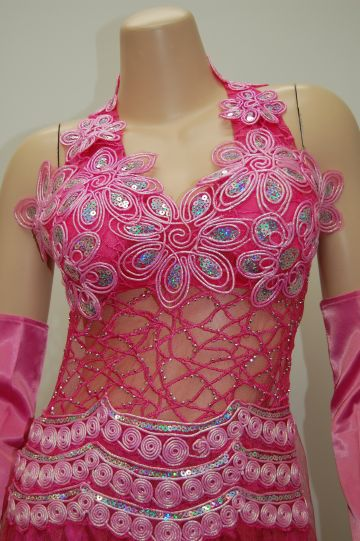 リアル刺繍☆誘惑の華 ロングドレス