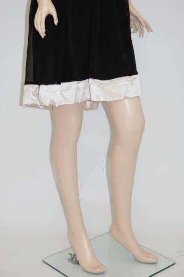 シフォン花コサージュ ミディアムドレス