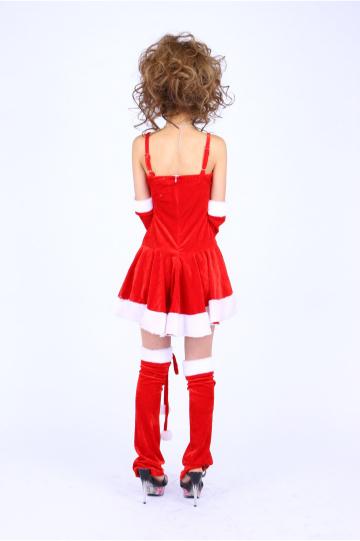 エプロン風デザイン サンタドレス