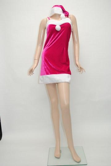 シンプル サンタ ワンピース ドレス
