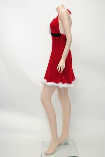 胸元セクシーふわふわ サンタドレス
