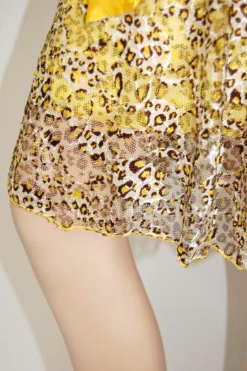 ひょう柄カラー ミディアムドレス
