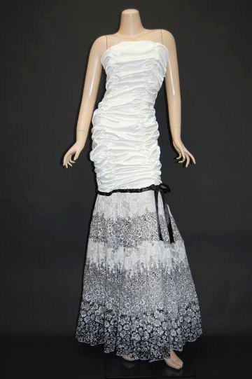 モノトーンフラワープリンセス ロングドレス
