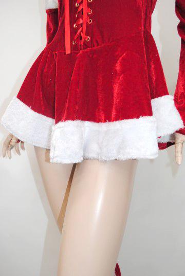 胸元スピンドル4点セット サンタドレス