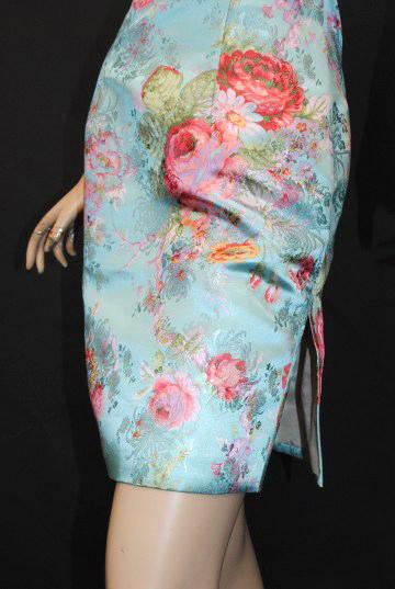 キュート花柄 ジャガード ショート チャイナドレス