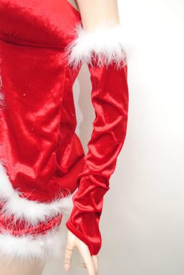 ふわふわ美脚 サンタドレス