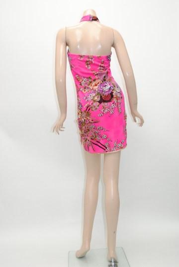 襟付き ベアトップ ショート チャイナドレス