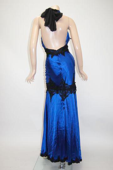 BACKセクシー上品レース ロングドレス